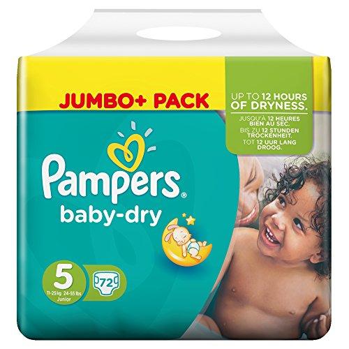 Preisvergleich Produktbild Pampers Baby-Dry Windeln Größe 5 (Junior) 11-25 kg, 1er Pack (1 x 72 Stück)