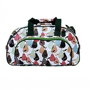 IKURI Weekender - Wasserdichte Tasche Für Frauen Sporttasche Schwimmtasche Umhängetasche für Fitness, Sauna und Wellness Kliniktasche Reisetasche aus Plane Retrolook - Design Peras