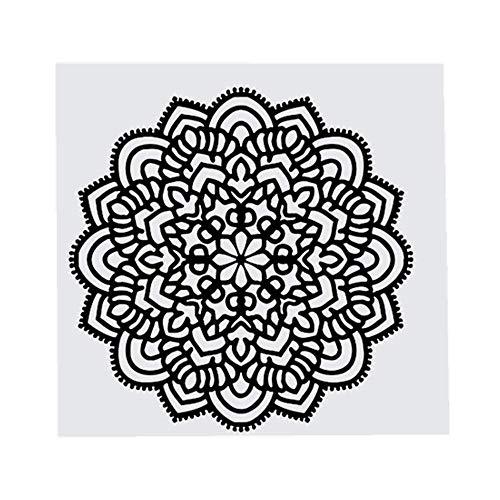 YWLINK 1 UNID Mandala Flor Dormitorio Indio Tatuajes De Pared Arte Pegatinas Mural Inicio Vinilo Impermeable ProteccióN del Medio Ambiente HOGAR Apliques De Oficina