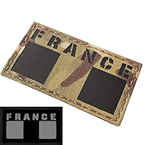 IR Multicam France Flag French 2x3.5 IFF Infrared Tactical Morale Touch Fastener Patch