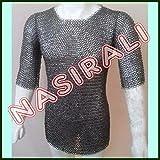 Nasir Ali MS Flat, remachado con arandela, Camisa de Malla, Medalla pequeña, COTA de Malla Medieval