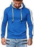 OneRedox Herren Sweatshirt Hoodie Pullover Kapuzenpullover Modell 1212 Blau XL