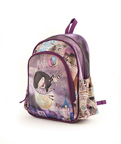 Anekke Schulrucksack/Backpack mit 2 Reißverschlussfächern Balerina Casual Daypack, 35 cm, 12 liters