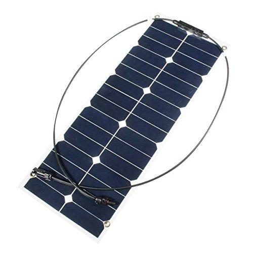 LaDicha 30W 12V Mono-Halb Flexibler Sonnenkollektor Für Rv-Boots-Intelligentes Autobatterie-Ladegerät (Rv 12-volt-tv)