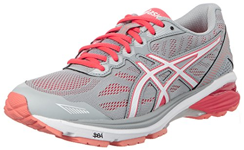 ASICS Women's Gt-1000 5 Running Shoes, Grey (Midgrey/White/Diva Pink 9601), 40.5 40.5 EU