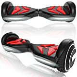 Magic Vida Skateboard Électrique Bluetooth 6.5 Pouces Dollar avec LED Gyropode Smart Scooter...