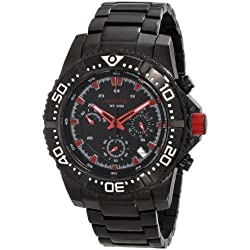 Red Line-rl-50030vk-bb-11rd-Armbanduhr-Quarz Chronograph-Armband Edelstahl schwarz