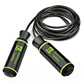 Skipping Rope, TechRise Speed Skipping Jump Jumping Rope with Skin-friendly Handle and Adjustable Soft Steel Wire Inside Rope for Fitness Workouts Fat Burning Exercises and Boxing