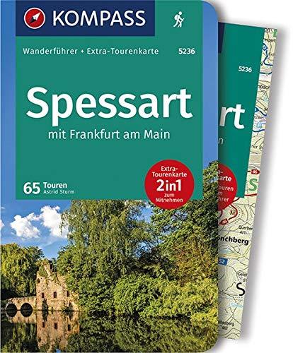 Spessart mit Frankfurt am Main: Wanderführer mit Extra-Tourenkarte 1:60.000, 65 Touren, GPX-Daten zum Download (KOMPASS-Wanderführer, Band 5236)
