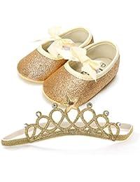 Fossen Recién Nacido Bebe Niñas Zapatos de Brillante ...