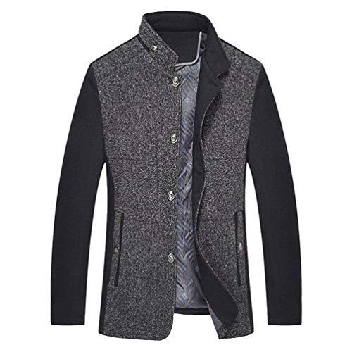Betrothales Herren Warme Stehkragen Winterjacke Jacke Bomberjacke Winterparka Wintermantel Parka Outerwear Jacken Mäntel Outwear (Color :...
