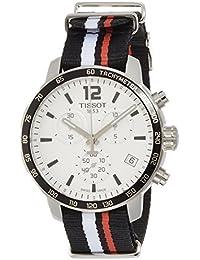 Tissot Herren-Armbanduhr Armband Nylon Weiß Gehäuse Edelstahl Schweizer Quarz Chronograph T0954171703701
