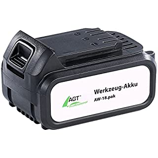 AGT Professional Zubehör Ersatzakku: Li-Ion-Werkzeug-Akku AW-18.pak, 18 V/4000 mAh Akku