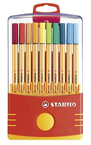 Fineliner - STABILO point 88 - ColorParade mit Aufhängelasche - 20er Pack - mit 20 verschiedenen Farben