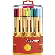 Stabilo Point 88 - Pack de 20 de bolígrafos, color marrón