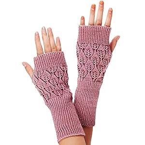 Sannysis Damen-Strick Fringe warme Handschuhe