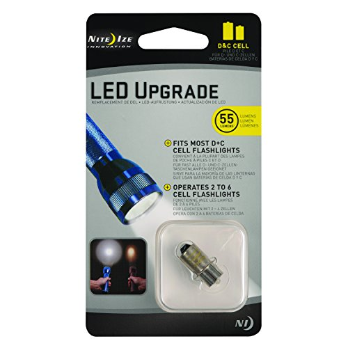 Nite Ize Birne LED-Upgrade-Conversion Bulb II C und D Batterien, NI-LRB2-07-PR Upgrade-kit C/d Cell