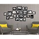 [Sponsored]Set Of Photo Frames Extravagant Wall Hanging Individual Photo Frame- Set Of 23 (Multiple Size , Black) By Printelligent