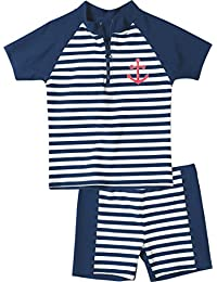 Playshoes - Maillot de bain boxer Garçon - Boy's Swim Shirt and Swim Shorts