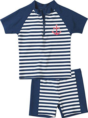 Playshoes Baby - Jungen Schwimmbekleidung, gestreift 460112 2 tlg. Bade-Set Maritim, Gr. 74/80, Mehrfarbig (900 original)