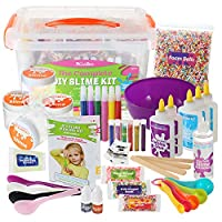 DilaBee Slime Making Kit - {48 Piece} Super Jumbo Starter Set - Safety Tested & Certified! Non-Toxic Slime Accessories & Supplies for Girls and Boys 07457