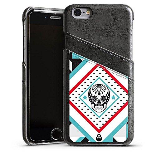 Apple iPhone 4 Housse Étui Silicone Coque Protection Tête de mort Motif Motif Étui en cuir gris
