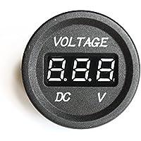 bandc Duell Red LED Digital Akku Volt Anzeige Voltmeter f/ür Auto//Boot//ATV//UTV//Wohnmobil//Wohnwagen