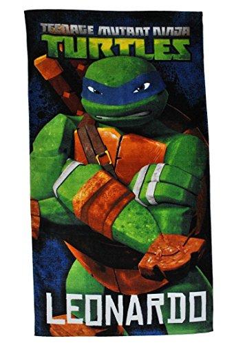 Unbekannt Badetuch Turtles 70 cm * 140 cm Handtuch Strandtuch Baumwolle - Leonardo Schildkröten Teenage Mutant Ninja Turtle Jungen 70x140 für Kinder ()
