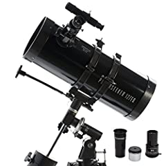 Idea Regalo - Celestron CE21049 Powerseeker 127EQ Telescopio Riflettore da 127 mm con Accessori e Treppiede in Alluminio