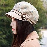 XINQING-MZ Hat fiori femminili beret cap in autunno e inverno fiore cappuccio Moda Fashion Cap nuovo video bianca e sottile