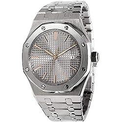 PARNIS 9050 - Reloj Deportivo para Hombre Miyota automático, Calibre 821A Saphirglas 5BAR estanco Ø44 mm Herrenuhr masiva Pulsera con Butterfly-Schließe