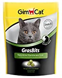 GimCat GrasBits / Cat Treats with Vitamins, Minerals, Amino Acids and Trace Elements / 1 x 140g pouch