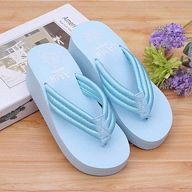 zhENfu donna pantofole & amp; flip-flops Primavera / Estate / Autunno Scarpe & amp; sacchi di corrispondenza casuale di gomma tacco piatto OthersBlack Light Blue