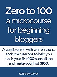 Zero to 100: A Microcourse for Beginning Bloggers (English Edition)