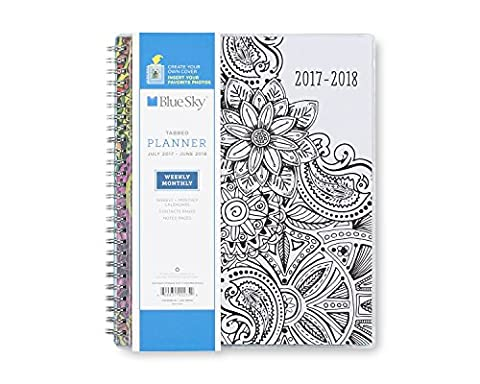 Blue Sky 2017-2018 Academic Year Weekly & Monthly Planner, Twin-Wire Bound, 7