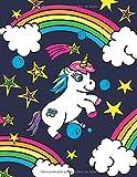 Mi Super Libreta de Unicornios Para Niñas Felices: El mejor cuaderno escolar grande y de rayas