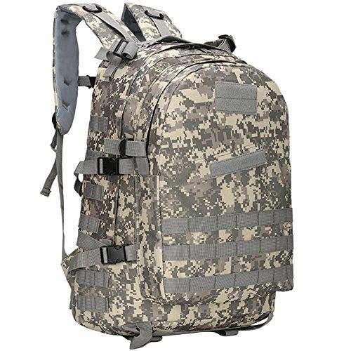 40L Military Rucksack Gear Wasserfestigkeit Tactical Assault Pack Student Schultasche für Camping Jagd Trekking Reise, ACU Color