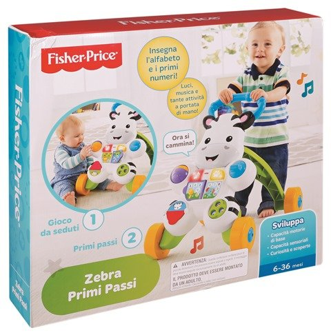 Fisher-Price DLD91 - Zebra Primi Passi