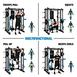 Capital Sports Pro Amaze Smith Machine • Powerrack • Multipresse • 2 Safety-Spotter • 16-Fach höhenverstellbar • Robustes Stahlrohr • inkl. Klimmzugstange • ca. 184 x 210 x 170 cm (BxHxT) • schwarz - 2