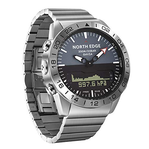 OOLIFENG Buceo Relojes Hombres, Reloj Militar Impermeable de 100m, Altímetro Barómetro Brújula Termómetro...