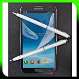 2x WEISS tomaxx Stylus Pen Eingabestift mit Kugelschreiber für Apple iPhone 6 6S iPhone 6 Plus 6S Plus, Samsung Galaxy S3 S4 S5 Mini Neo Galaxy S6 S6 Edge Plus, Huawei ShotX Mate S Honor 7 5X Y6 Y5 Nexus 6P P8 Lite G8 Google 5X HTC One M8 M9 A9, LG Nexus 5X G3 G4 mini, Microsoft Lumia 640 550 650 Lumia 950 950 XL, Sony Xperia Z5, Xperia Z5 Compact / Premium Xperia Z3 Z3+, LG Class, LG Zero