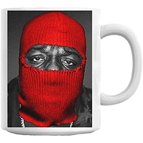 Notorious Big Biggie Smalls Red Mask Yeezus West Coast Thug Mug Cup