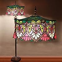 18-Inch Tiffany Rose European Retro Living Room Bedroom Villa Bar Study Classical Personality Colored Glass Decorative Floor Lamp