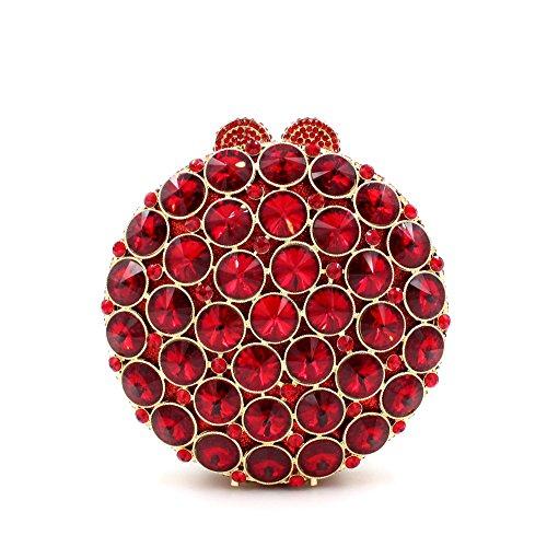Abendessen Paket europäischen und amerikanischen Stil Kristall voller Diamanten Hand Paket grün rot gold Red