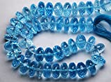 7 Inch StrandSuper Rare Item,AAA Quality Sky Blue Topaz Micro Faceted RONDELLS,8-9mm