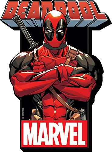 Aquarius Marvel Deadpool with Logo Funky Chunky Magnet -