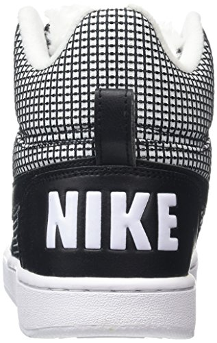 Nike White Mid Borough Se Femme de Blanc black Chaussures Court Basketball ffwzrqCx