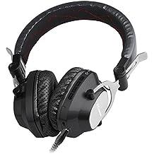 Ecandy Auricular de Bluetooth V4.0 estéreo de música plegable Sobre-oído sonido de alta fidelidad, construido en Calling micrófono de manos libres, para el iPhone 6S 6S, 6S Plus de Samsung, Android smartphone, tablet PC, MAC y Portátil (negro)
