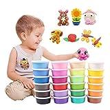 Yousheng 36 Colori Ultra Light Puzzle di Argilla per Bambini Giocattoli di Argilla Morbida Colore Fango Spazio Fango appiccicoso Contenitore di Colore del Vestito DIY