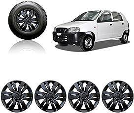 Auto Pearl 12-inch Black Wheel Cover Cap for Maruti Suzuki Alto STD (Set of 4)